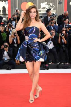 Barbara Palvin in Armani Prive al Venice Film Festival 2018