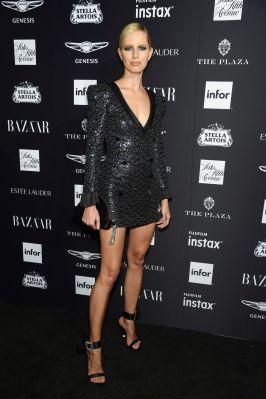 Karolina Kurkova al Harper's Bazaar Icons party durante la New York Fashion Week