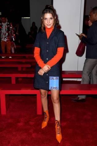 MIllie Bobby Brown al Calvin Klein 205W39NYC Fashion Show, NY