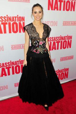 Suki Waterhouse alla premiere of Assassination Nation, Hollywood