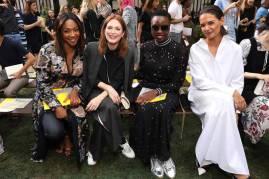 Tiffany Haddish, Julianne Moore, Danai Gurira and Katie Holmes al Tory Burch Fashion Show, NY
