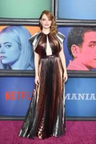 Emma Stone in Givenchy e gioielli Bulgariallla 'Maniac' premiere, New York