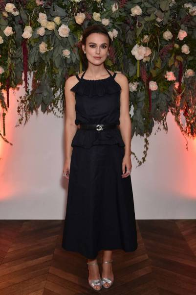 Keira Knightley in Chanel alla Colette premiere after party, BFI London Film Festival