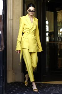 Kendall Jenner in House of Holland,Paris.
