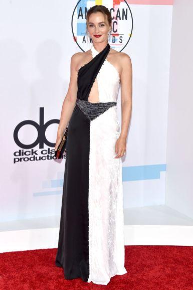 Leighton Meester in Sonia Rykiel, scarpe Gianvito Rossi, gioielli Messika agli American Music Awards, Los Angeles