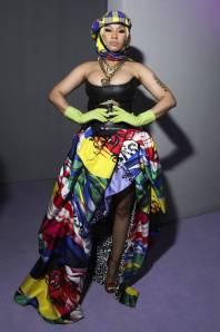 Nicki Minaj in Versace al Versace show, Milano Fashion Week