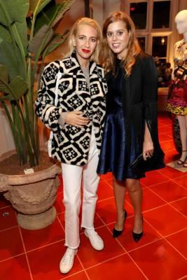 Sabine Getty e la Principessa Beatrice di York al Matches Fashion celebrates Mary Kantrantzou's 10 Year Anniversary, London