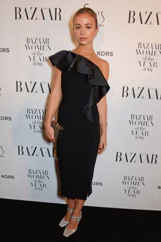 Amelia Windsor in Michael Kors ai Harper's Bazaar Women of the Year Awards 2018