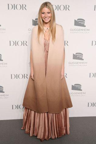 Gwyneth Paltrow in Dior al Guggenheim International Gala dinner, New York