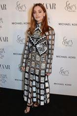 Jenna Coleman in Mary Katrantzou ai Harper's Bazaar Women of the Year Awards 2018