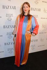 Roksanda Ilincic in una sua creazione ai Harper's Bazaar Women of the Year Awards 2018