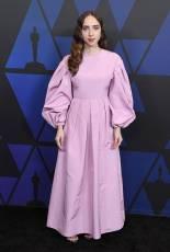 Zoe Kazan in Valentino e gioielli Bulgari ai The Governors Awards, Hollywood