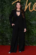 Brooke Shields in Victoria Beckham ai Fashion Awards 2018, London