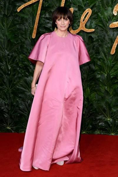 Kristin Scott Thomas in Valentino Haute Couture ai Fashion Awards 2018, London