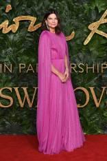 Natalie Massenet in Emilia Wickstead ai Fashion Awards 2018, London
