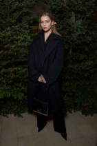 Regina Anikiy in BUrberry at an event hosted by Kristin Scott Thomas to celebrate Christmas in Paris