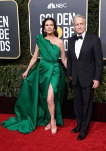 CatherineCatherine Zeta-Jones e Michael Douglas ai Golden Globes 2019 Zeta-Jones e Michael Douglas ai Golden Globes 2019