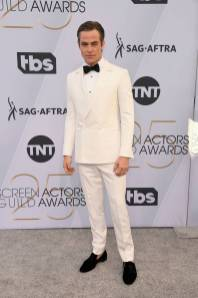 Chris Pine in Ermenegildo Zegna ai SAG Awards 2019
