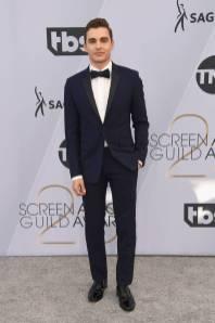 Dave Franco in Christian Dior ai SAG Awards 2019