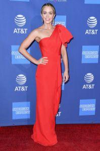 Emily Blunt in Roland Mouret, sandali Sophia Webster al Palm Springs International Film Gala