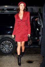 Irina Shayk in Versace,New York.