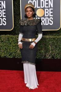Janelle Monae in Chanel ai Golden Globes 2019
