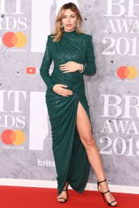 Abbey Clancy in Alexandre Vauthier ai Brit Awards 2019, London