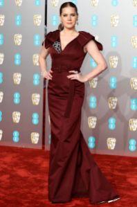 Amy Adams in Prada ai BAFTAs 2019, London