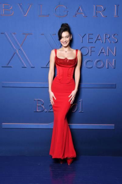 Bella Hadid al Bulgari B.ZERO1 XX Anniversary Global Launch Event, Rome