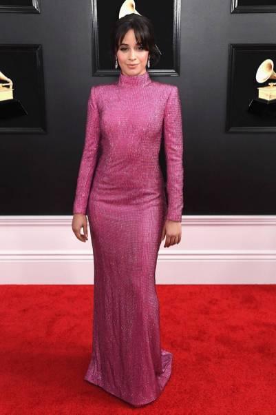 Camila Cabello in Armani Privè ai Grammys, LA