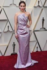 Emilia Clarke in Balmain agli Oscars 2019,LA