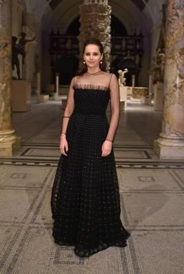 Felicity Jones in Dior al Christian Dior Designer of Dreams opening, V&A