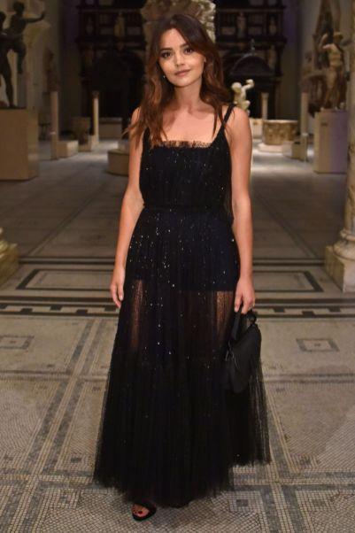 Jenna Coleman in Dior al Christian Dior Designer of Dreams opening, V&A