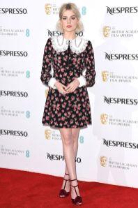 Titolo Lucy Boynton in Miu Miu al Nespresso pre-BAFTA party, Kensington Palace Didascalia