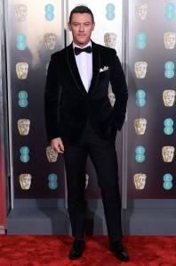 Luke Evans in Corneliani ai BAFTAs 2019, London