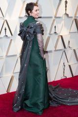 Olivia Colman in Prada e gioielli Chopard agli Oscars 2019,LA