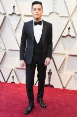 Rami Malek in Saint Laurent agli Oscars 2019,LA