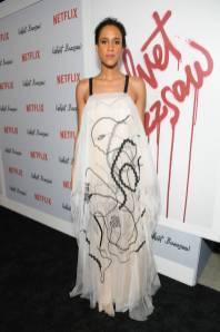 Zawe Ashton in Roksanda alla Velvet Buzzsaw premiere, Hollywood