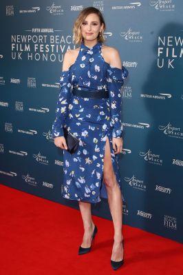 Laura Carmichael in Altuzarra al Newport Beach Film Festival UK honours event, London.