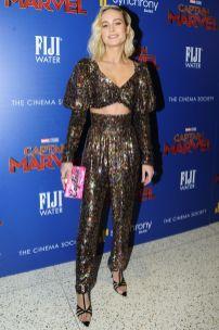 Brie Larson in Rodarte alla premiere of Captain Marvel, NY