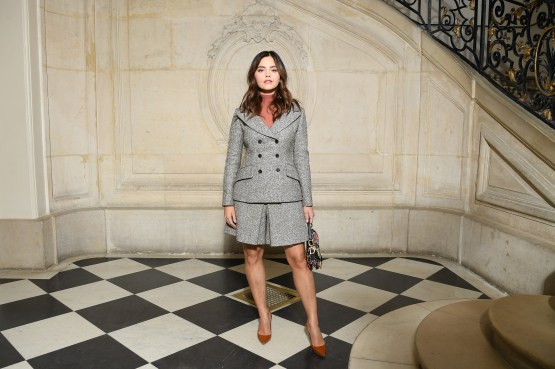 Jenna Coleman in Dior alla sfilata DIor AW 2019/2020