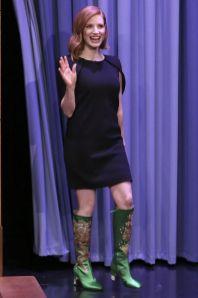 Jessica Chastain al The Tonight Show.