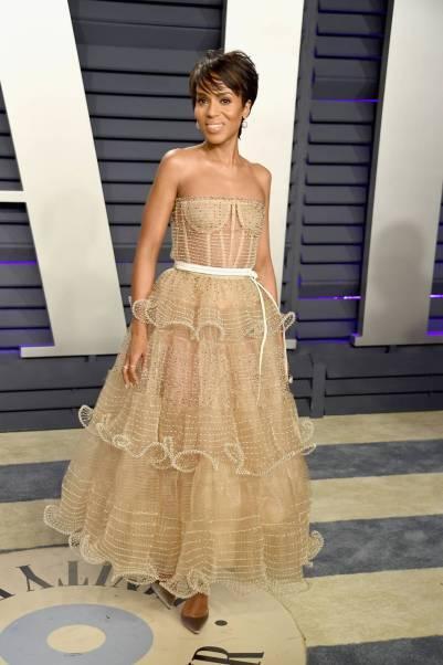 Kerry Washington in Schiaparellio al Vanity Fair Oscar after party, LA