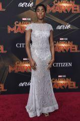 Lashana Lynch alla premiere of Captain Marvel, Hollywood