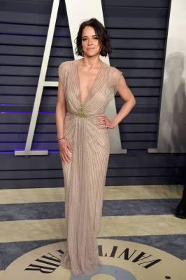 MIchelle Rodriguez in Jenny Packham al Vanity Fair Oscar after party, LA.