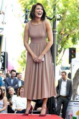 Mandy Moore in Emilia Wickstead al Hollywood Walk of Fame