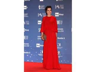 Stefania Rocca in Valentino ai David di Donatello 2019