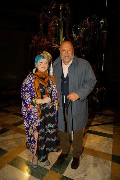 Bethan Laura Wood con Leo Damiani, Direttore di Perrier-Jouët Italia – Photo Credit Gio Staiano