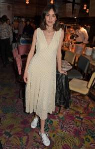 Alexa Chung in Alechung e scarpe Superga all'Alexa Chung x Superga Summer Launch Dinner, London