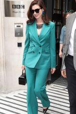 Anne Hathaway in Gabriela Hearst, London